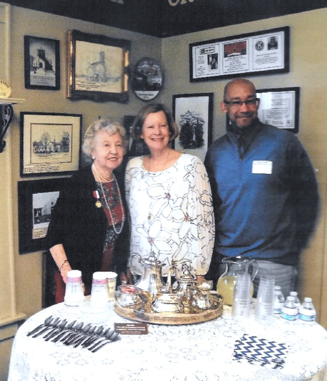 Edie Mae Herrel with Bexley Historical Society board members,                                                              Gail Storer and Bryan Drewry