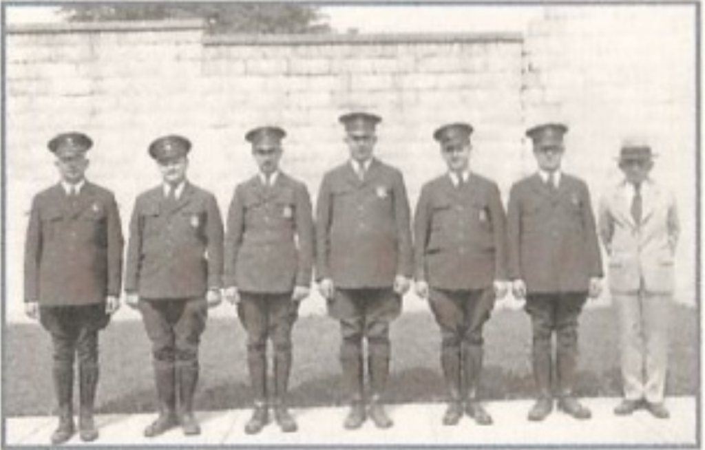 Bexley Police Department with Mayor Stephen Ludwig    c.early 1930s