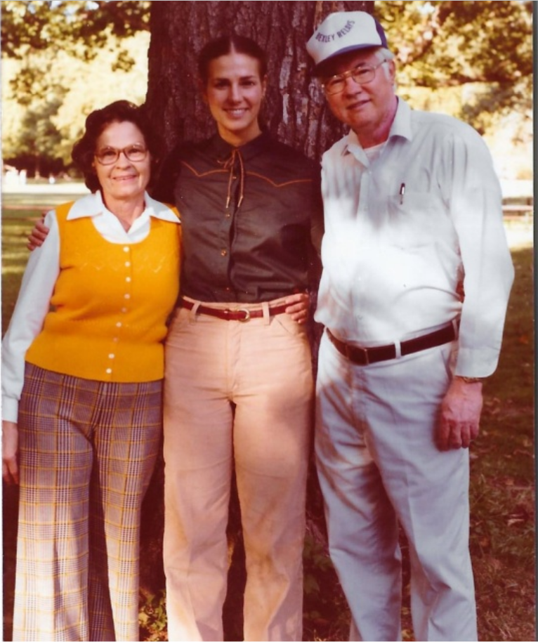 Ruby and Russ Owen with their daughter, Nancy Owen-Hawkins